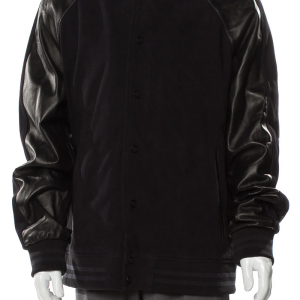 Bruno Magli Varsity Leather Jacket