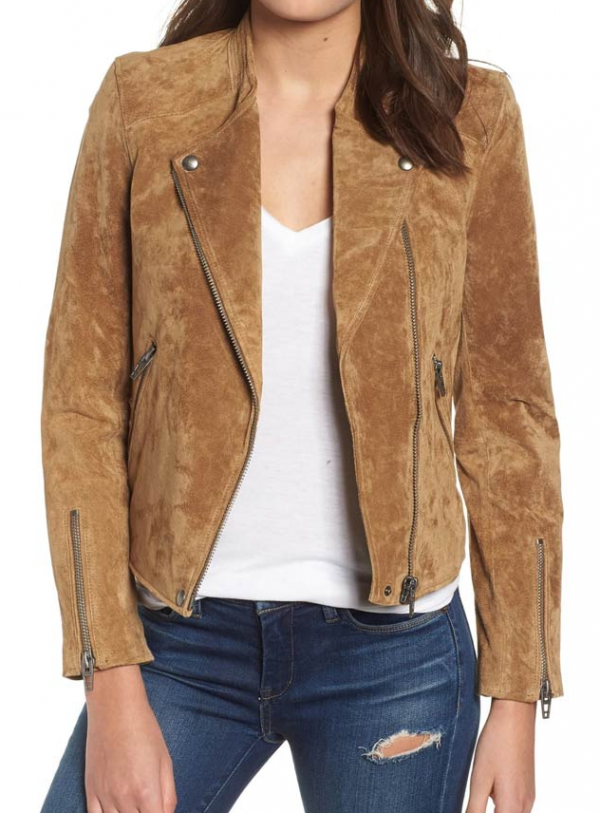 Dead To Me Jen Harding Suede Leather Jacket