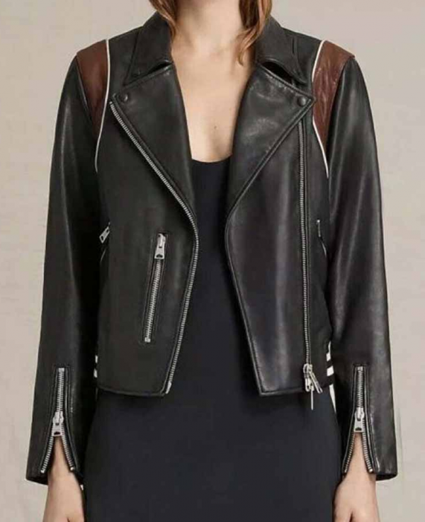 Dex Parios Black Leather Jacket