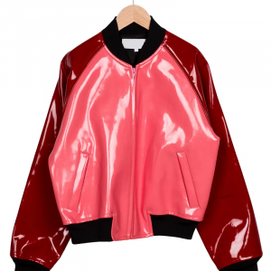 Girls Faux Patent Leather Jacket