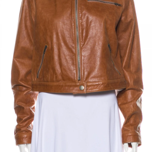 Haute Hippie Brown Biker Leather Jacket