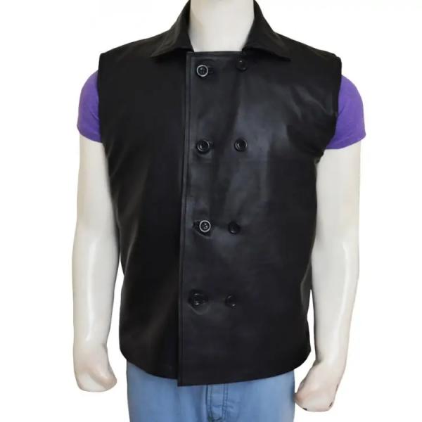 Spiderman Noir Leather Vest