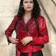 Zeynep Erman Red Leather Jacket