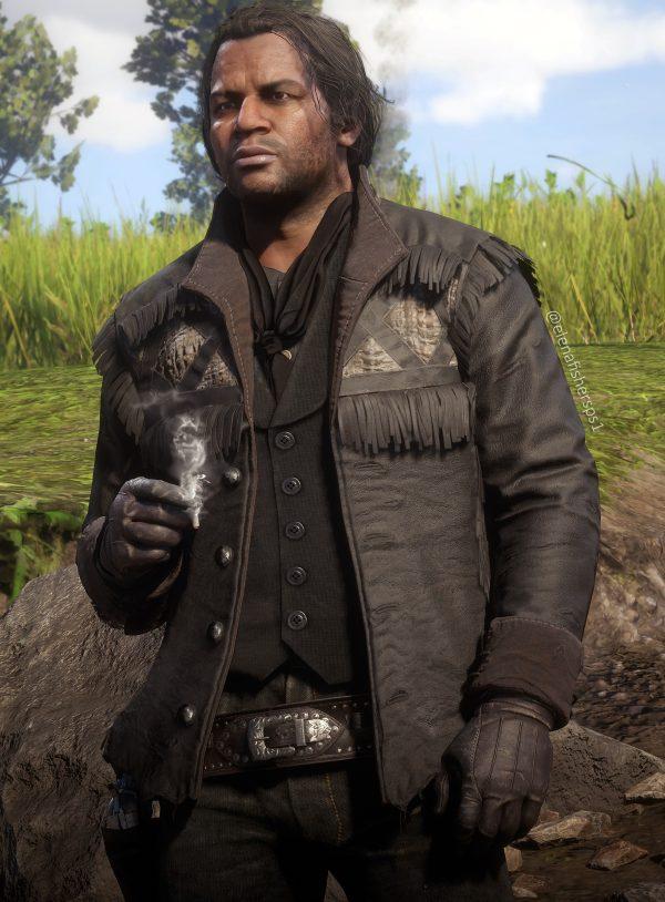 red dead redemption Black Charles Smith Rattlesnake Hunting Jacket