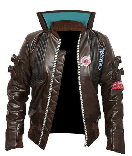 Cyberpunk 2077 Bomber Leather Jacket