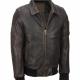 Distressed Brown Vintage Bomber Jacket