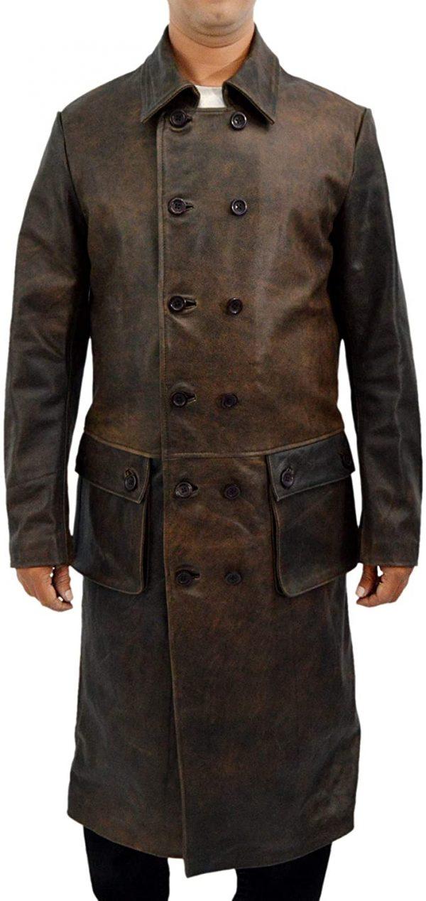 Frontier Declan Harp Leather Coat