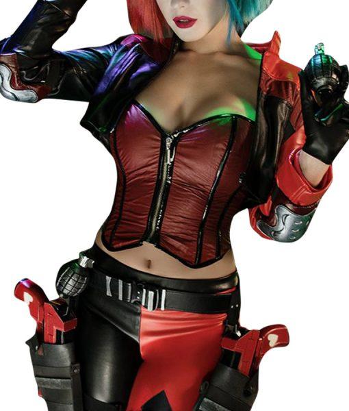 Harley Quinn Injustice 2 Leathers Jacket