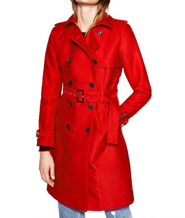 Riverdale Polly Cooper Red Double Breasted Coat