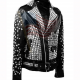 Studded Punk Biker Leather Jacket