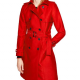 Riverdales Polly Cooper Red Double Breasted Coat