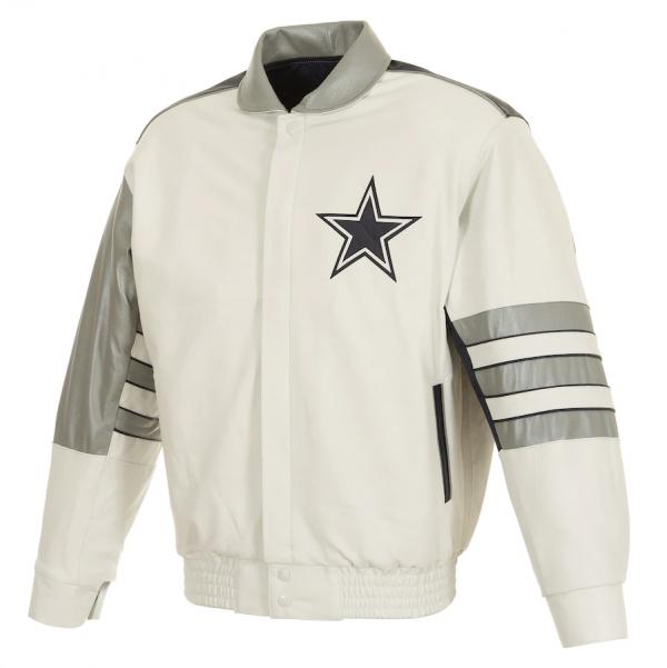 Vintages Dallas Cowboys White Jacket