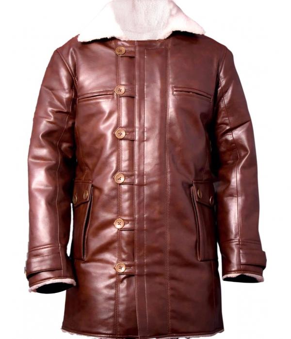 Bain Leather Coat