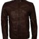 Dark Brown Cafe Racer Leather Jacket