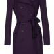 Dark Purple Trench Coat