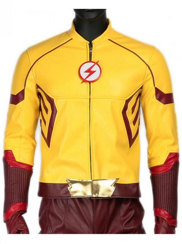 Kid Flash Leather Jacket