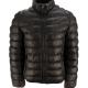 Leather Puffer Black Jacket