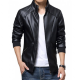 Man Black Leather Jacket