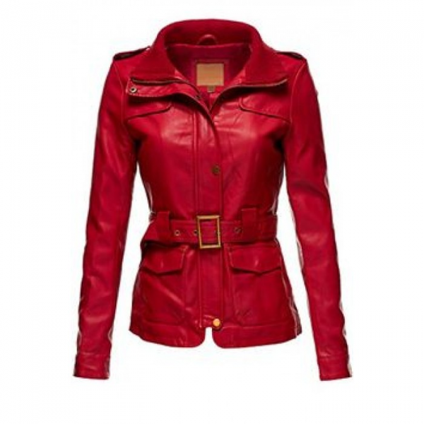 Sexy Leather Red Jacket