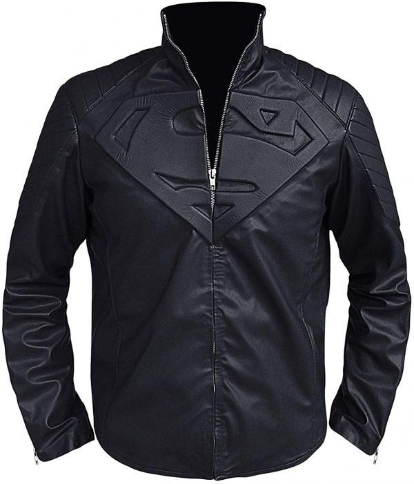 Superman Black Smallville Leather Jacket