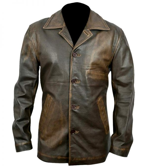 Supernaturals Dean Winchester Leather Trench Coat