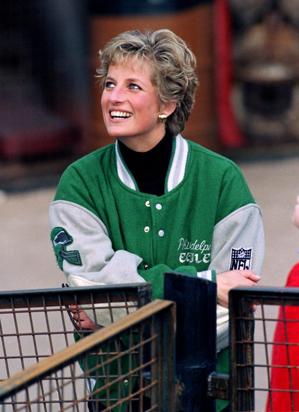 UK Princess Diana Philadelphia Eagles Jacket