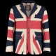 Union Flag In X Design Jacket