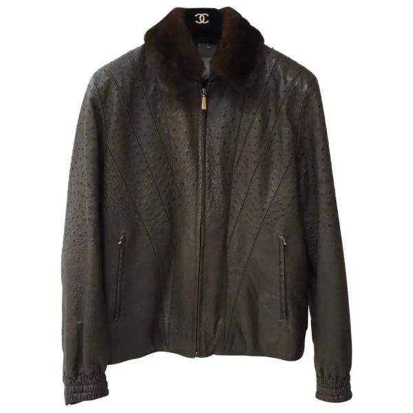 Zilli Nolot Marron Ostrich Leather Jacket