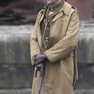 1917 Movie Mark Strong Brown Cotton Trench Coat