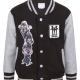 Boy's Grey Long Sleeve Varsity Jacket