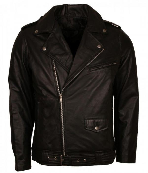 Elvis Presley Brando Biker Leather Jacket
