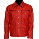 Elvis Presley King Of Rock Retro Red Leather Jacket