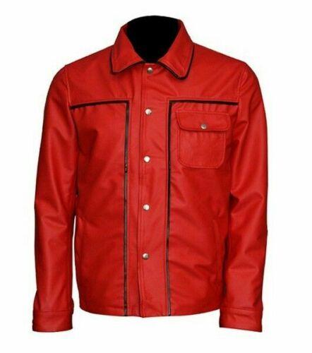 Elvis Presley King Of Rock Retro Red Leather Jacket