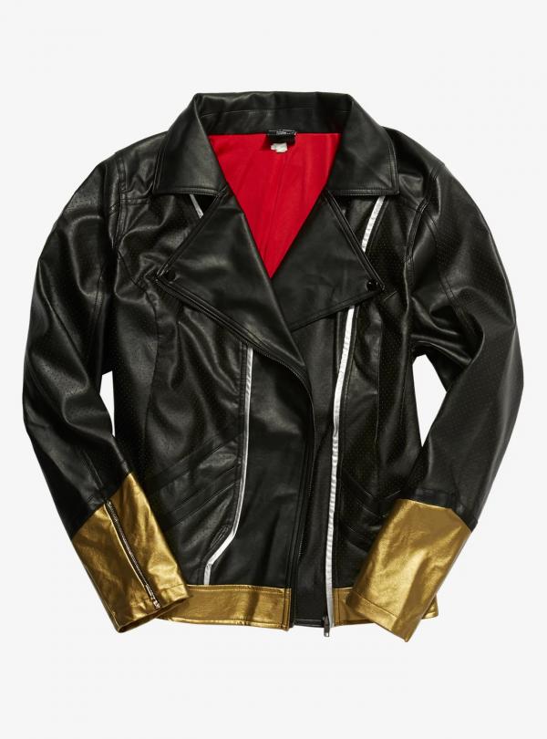 Her Universes Marvel Black Widow Girls Moto Leather Jacket