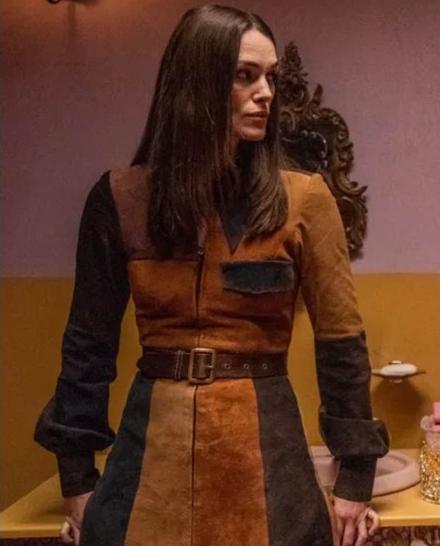 Keira Knightleys Misbehaviour Suede Brown Coat