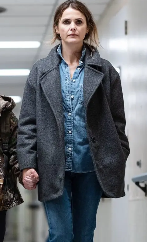 Keris Russell Antlers Wool Coat