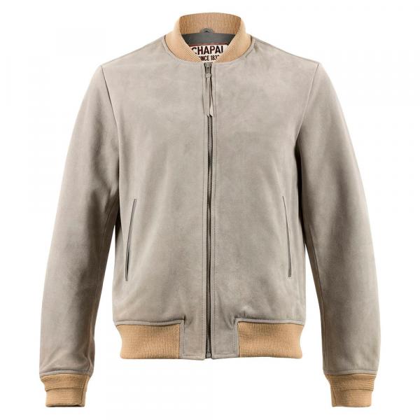 Light Grey Suede Elvis Jacket