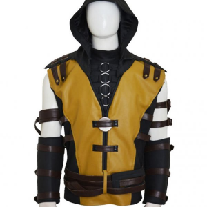 Mortal Kombat 10 Scorpion Leather Jacket