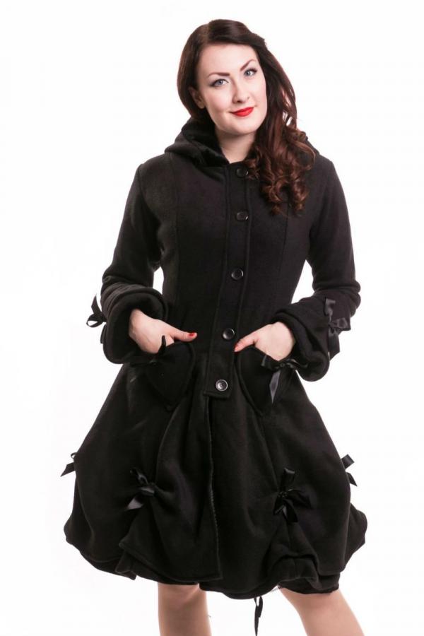 Poizen Alice Black Rose Cotton Coat