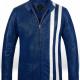 Rich Blue Elvis Presley Speedway Leather Jacket