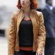 Scarlett Johansson Avengers Tan Browns Jacket