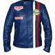 Steve McQueen Gulf Le Mans Grandprix Cotton Navy Blue Racing Jacket