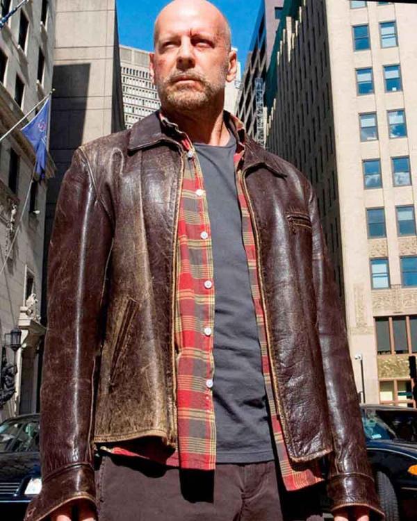 Surrogates Greer Distressed Leather Jacket