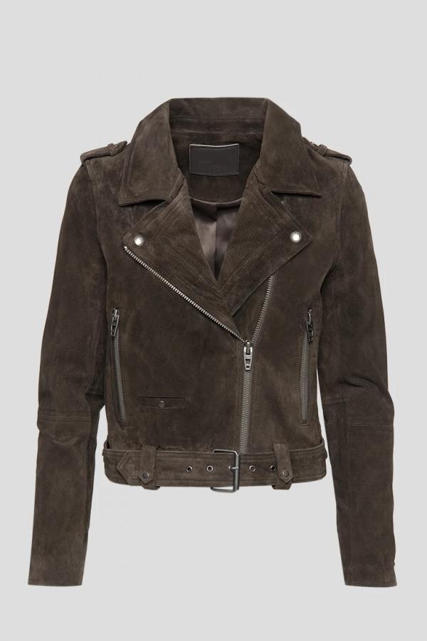 Asphalt Real Suede Leather Jacket