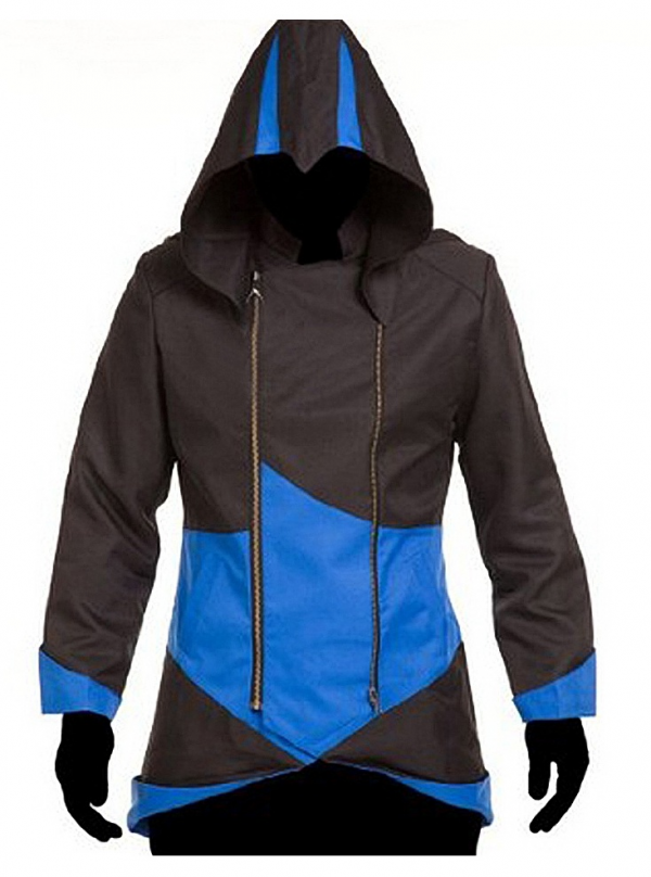 Assassins Creeds Iii Black And Blue Leather Jacket