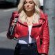 Bebe Rexhas The Way I Are Red Leather Jacket