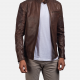 Dean Brown Biker Leather Jacket