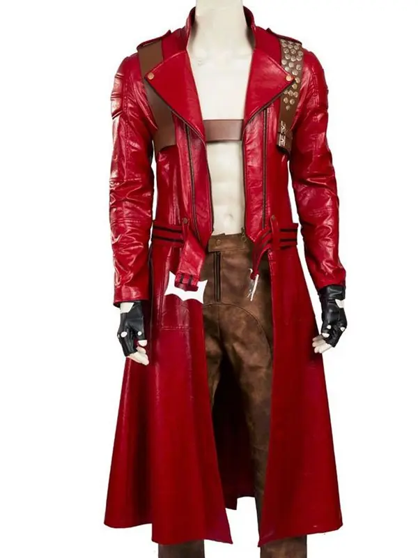 Devil May Cry3 Dante Red Leather Coat