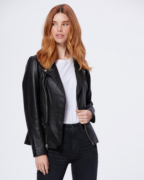 Dita Black Leather Jacket