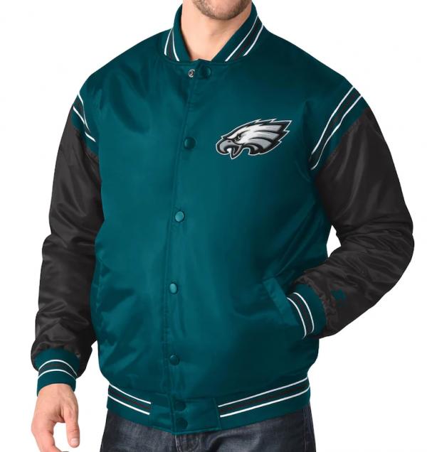Eagles Enforcers Midnight Philadelphia Varsity Jacket
